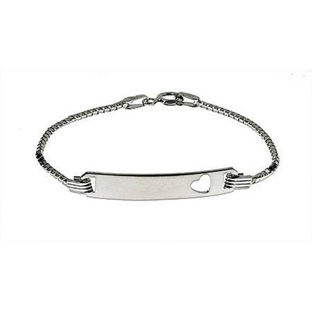Engravable Box Link Childrens ID Bracelet