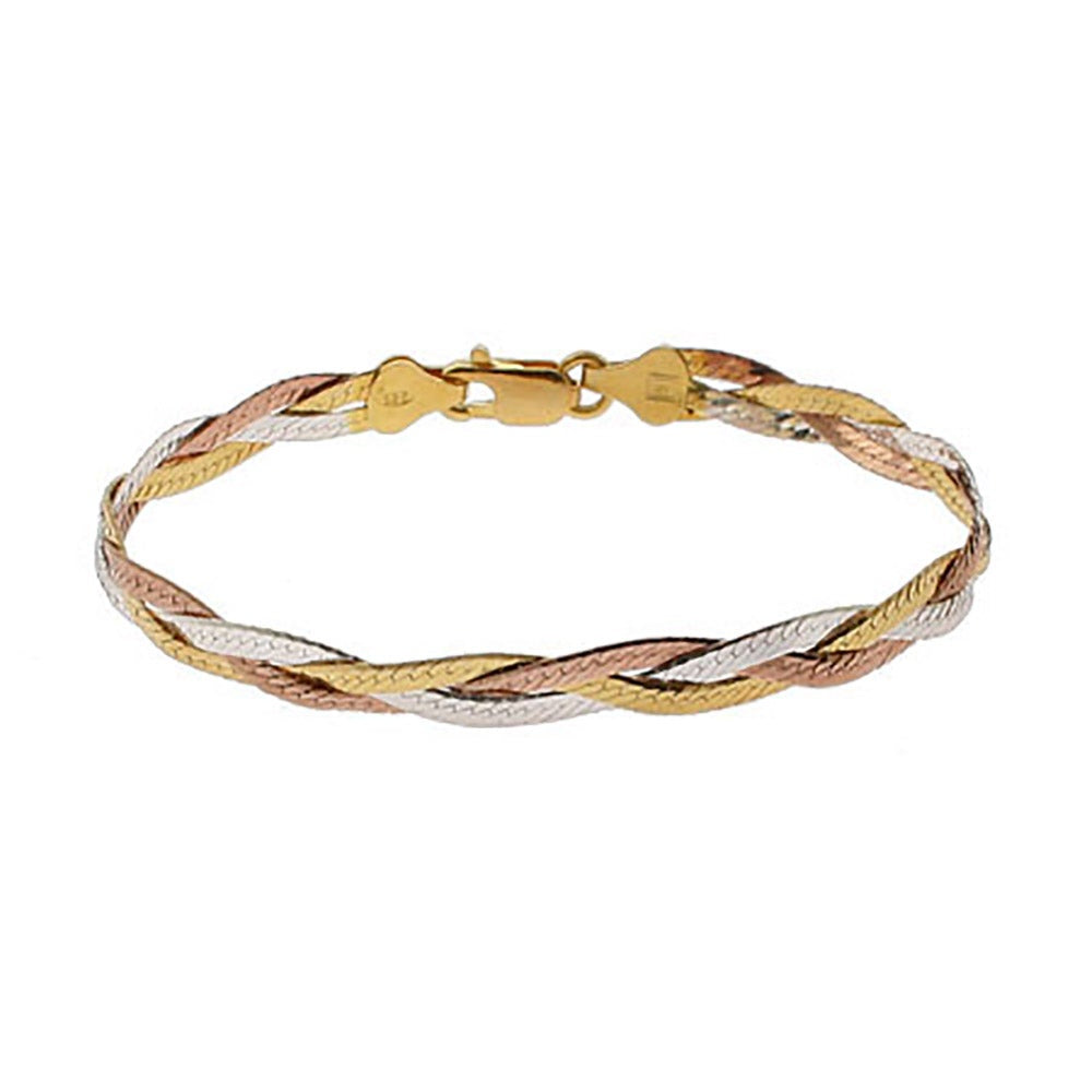 Gold and silver braid bracelet