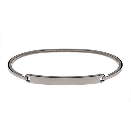 display slide 1 of 1 - Ladies Simple Thin Engravable Bangle ID Bracelet - selected slide