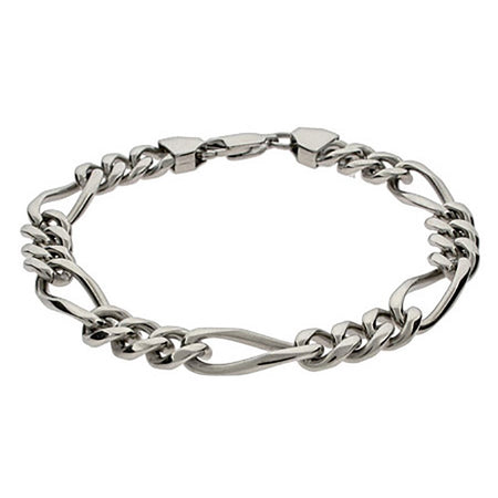 display slide 1 of 1 - Men's Figaro Link Bracelet - selected slide