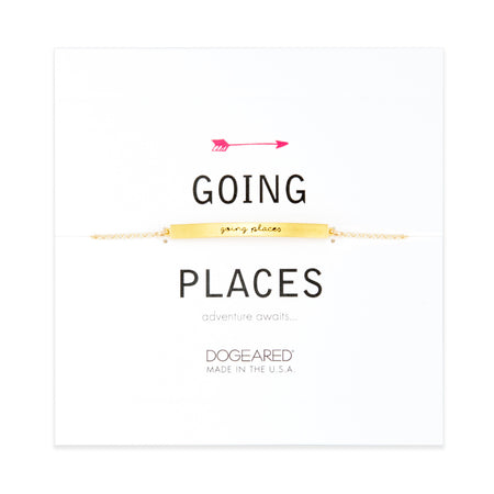 Dogeared Gold Plated Going Places Message Bracelet