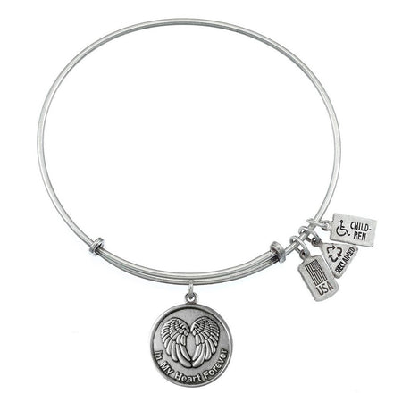 Wind & Fire In My Heart Charm Bangle Bracelet
