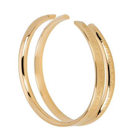 Sisters Gold Cuff Bracelets Set by Stella Valle