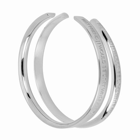 Stella Valle Best Friend Silver Cuff Bracelets Set