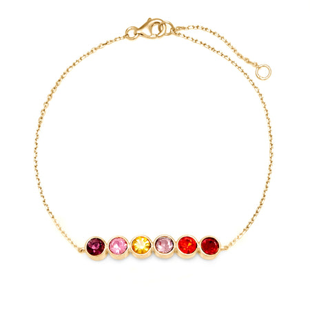 6 Stone Custom Birthstone Bracelet | Custom 6 CZ Bangle