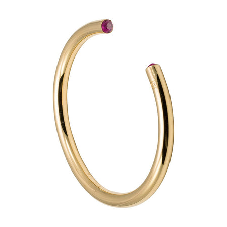 display slide 1 of 1 - February CZ Gold Birthstone Cuff Bracelet by Stella Valle - selected slide