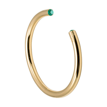 May CZ Gold Birthstone Cuff Bracelet by Stella Valle