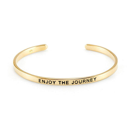 Gold Plated Message Cuff Bracelet