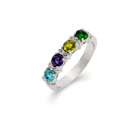 Close to the Heart 4 Stone Birthstone Eternity Band