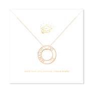 Inspirational Graduation Rose Gold Roman Numeral Circle Pendant