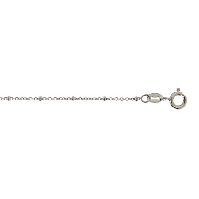 Sterling Silver Beaded Rolo Chain