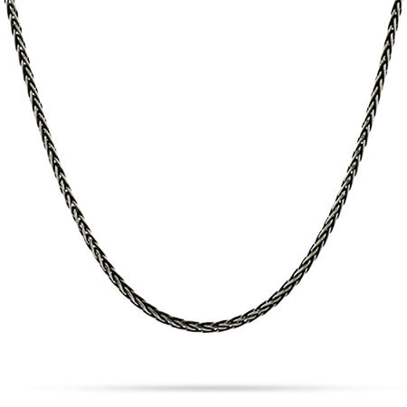 Sterling Silver Oxidized Spiga Chain