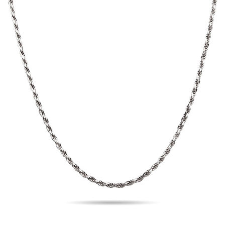 Sterling Silver Rhodium Braided Chain