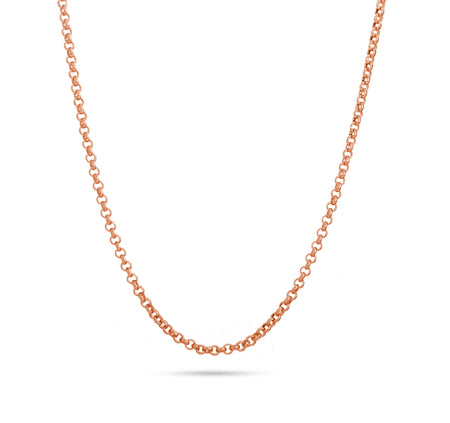 display slide 1 of 1 - Rose Gold Steel Rolo Chain - selected slide