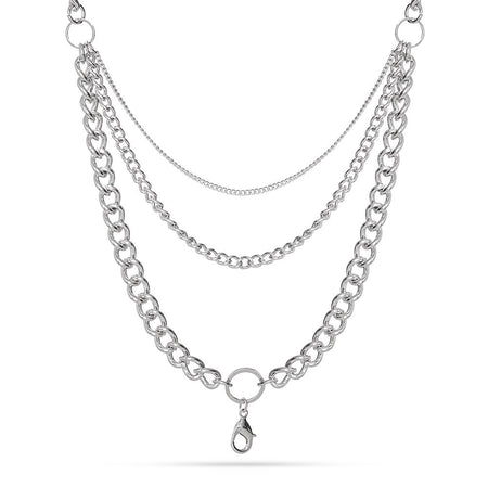 """28"""" Rhodium Layered Chain For Floating Lockets"""