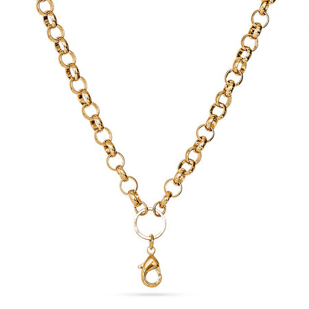 20 Inch Gold Round Link Chain For Floating Lockets