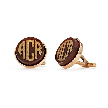 Block Monogram Acrylic Cufflinks