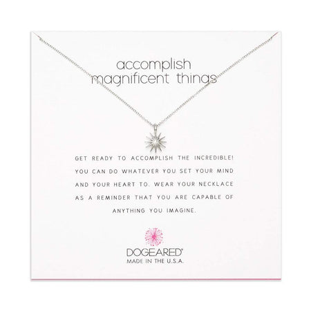Dogeared Accomplish Magnificent Things Sterling Silver Necklace
