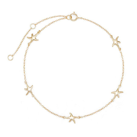 Starfish Gold Anklet   Gold Plated Silver Starfish Anklet