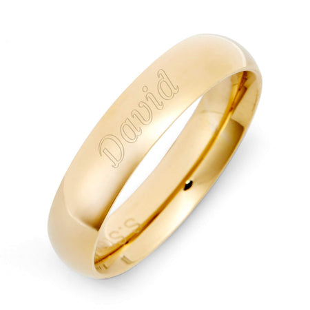 display slide 1 of 2 - 18K Gold Plated 5mm Stainless Steel Band | Eve's Addiction® - selected slide