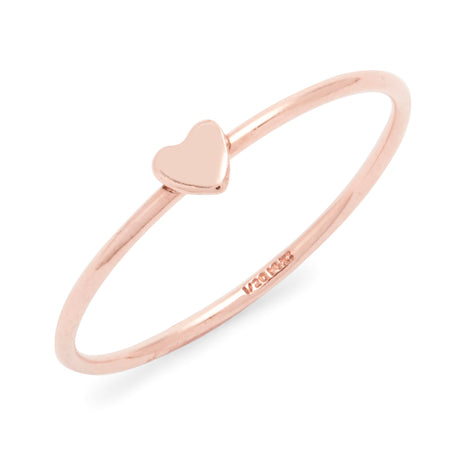 Rose Gold Filled Heart Stackable Ring