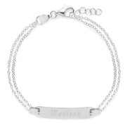 Engravable Sterling Silver Baby Name Bar Bracelet
