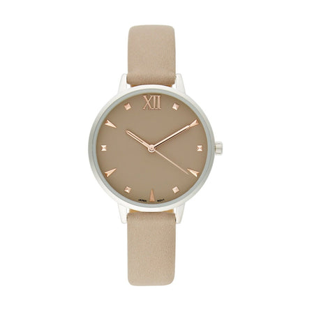 Nude Women's Watch Stainless Steel With Round Clock Face