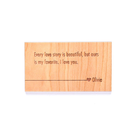 Personalized Wood Wallet Insert