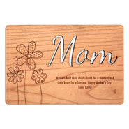 Carved Personalized Mom Wood Postcard