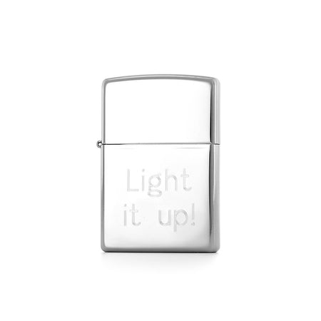 display slide 1 of 3 - Personalized Classic High Polish Chrome Zippo Lighter - selected slide