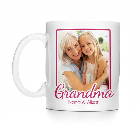 display slide 1 of 1 - Grandma Photo Mug - selected slide