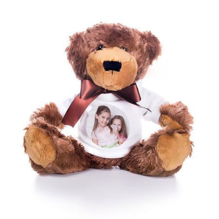 Teddy Bear with Custom Photo T-Shirt