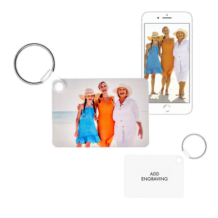 display slide 1 of 3 - Rectangle Custom Photo Keychain  - selected slide