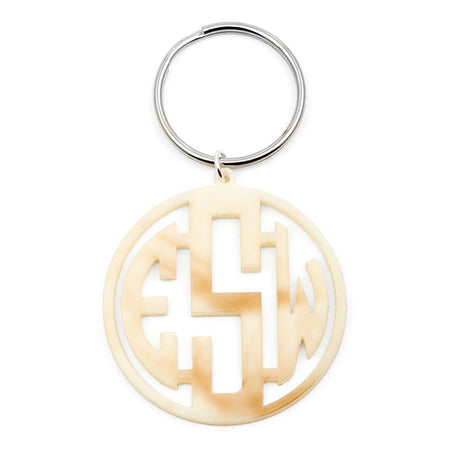 display slide 1 of 3 - Block Monogram Acrylic Keychain - selected slide