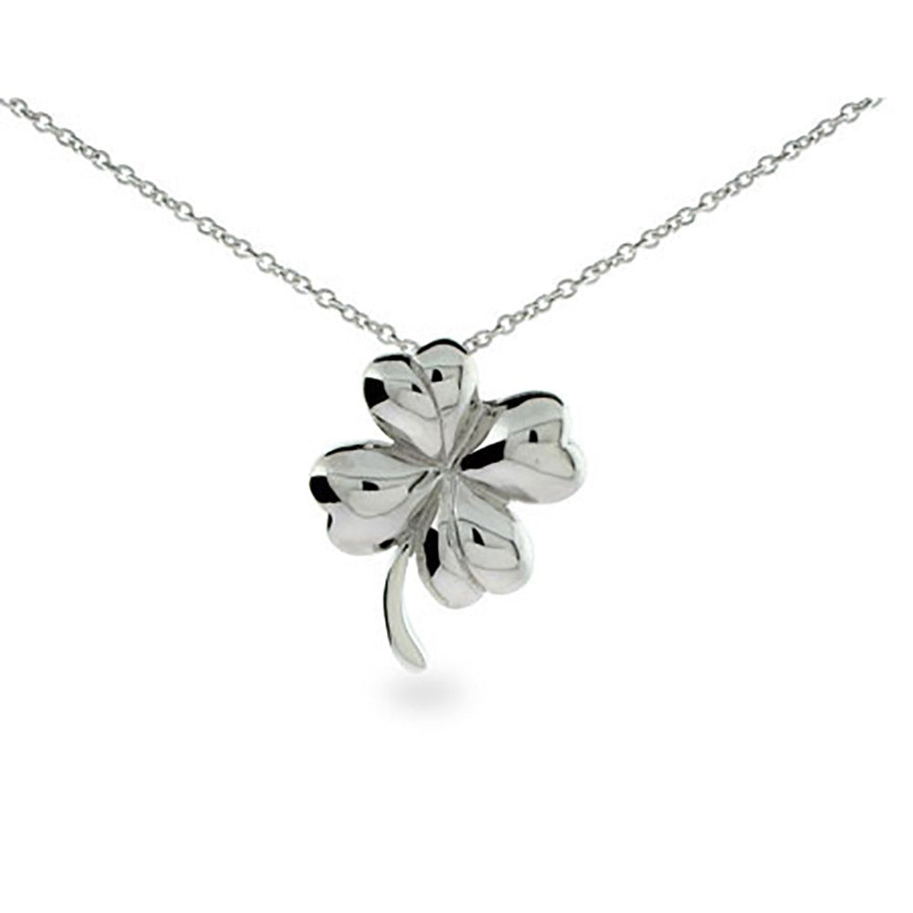 Sterling Silver Four Leaf Clover Charm New Pendant