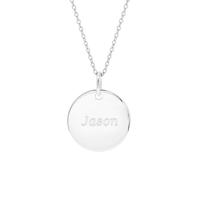 Engravable Small Round Tag Pendant