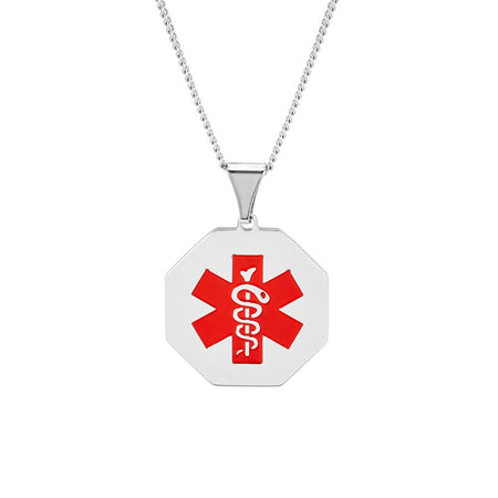Engravable Stainless Steel Medical ID Necklace