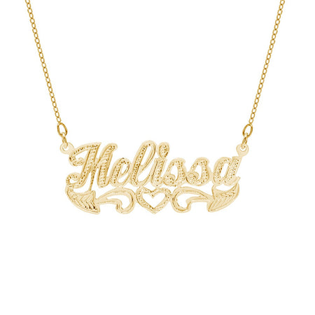 14K Gold Personalized NamePlate Necklace