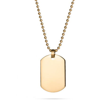 18K Gold Plated Small Dog Tag