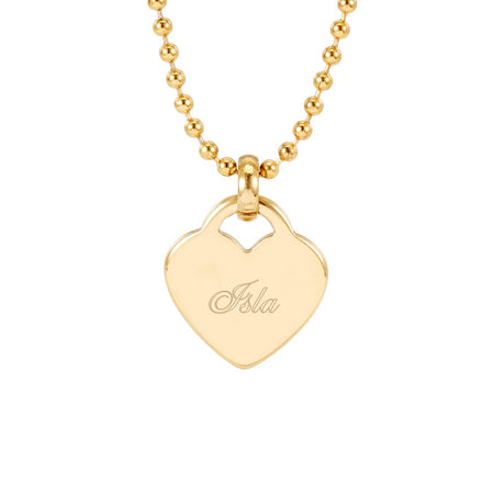 Engravable Gold Plated Heart Charm Pendant