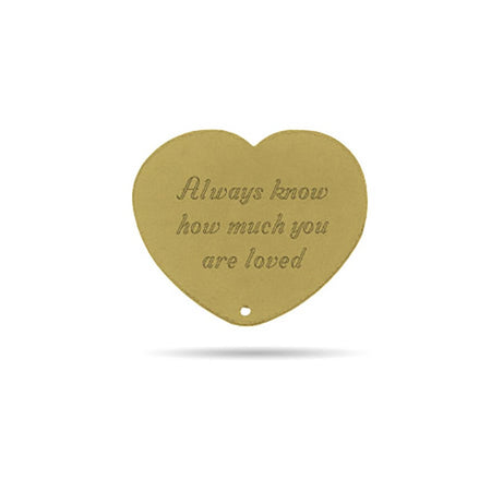 Gold Vermeil Engravable Secret Message Heart Insert