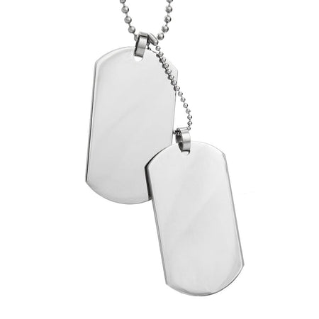 Large Stainless Steel Double Dog Tags | Eve's Addiction®