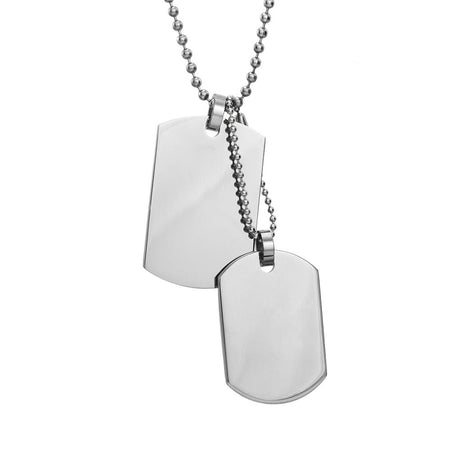 Medium and Small Double Dog Tag Pendant