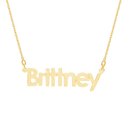 Gold Dipped Name Necklace