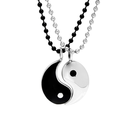 display slide 1 of 5 - Yin Yang Friendship Pendant - selected slide