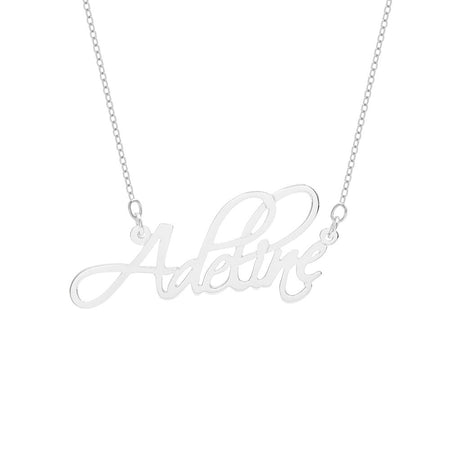 Script Sterling Silver Custom Name Necklace