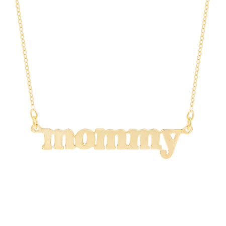 Mommy Necklace in Gold Vermeil