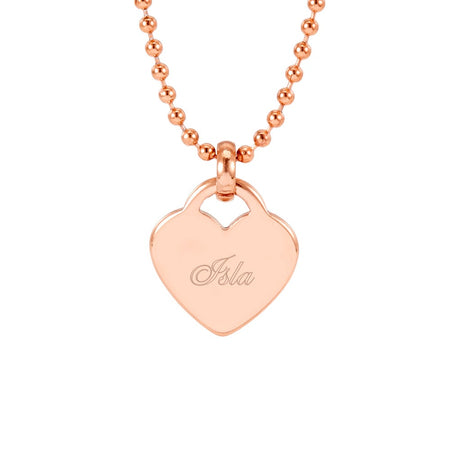 Rose Gold Engravable Heart Pendant