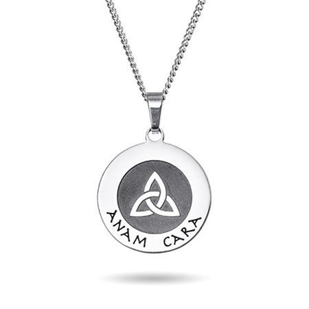 Engravable Anam Cara Soul Friend Pendant
