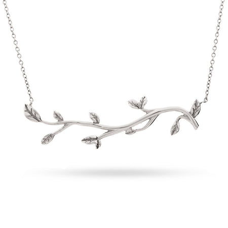 Tree Branch Sterling Silver Necklace